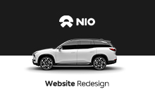 NIO WEBSITE REDESIGN