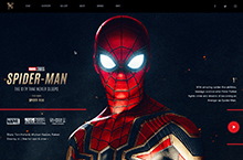 Spiderman - Website Concept Design#
